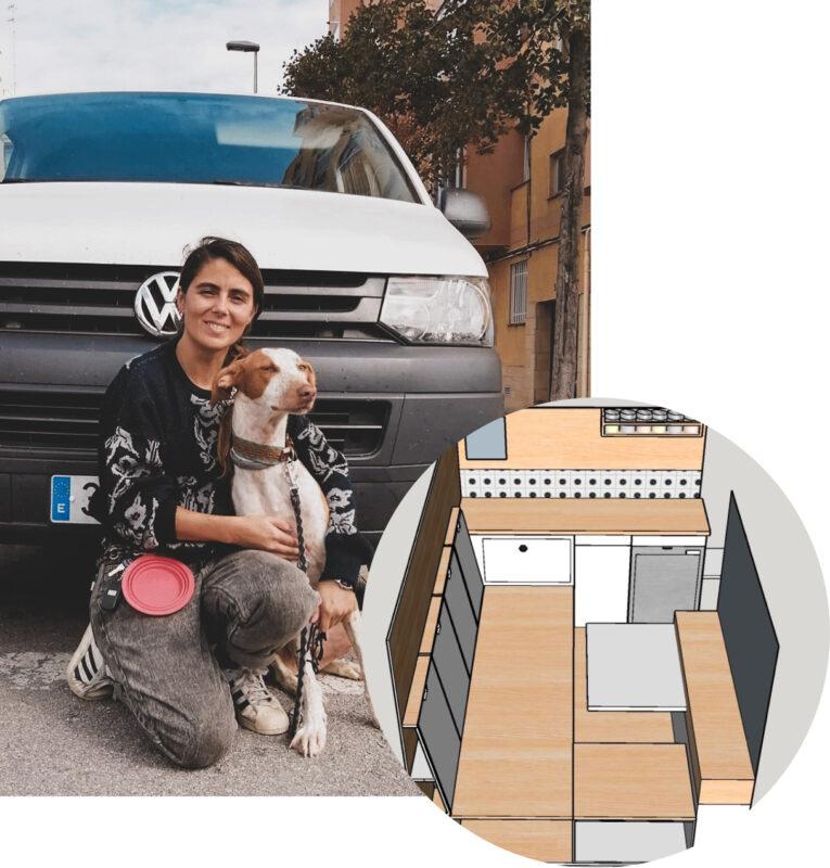 diseñadora interiores furgoneta camper
